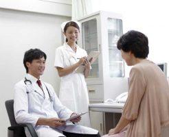診察中の患者